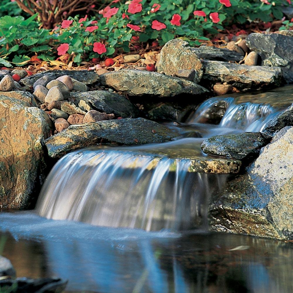 backyard landscaping waterfall