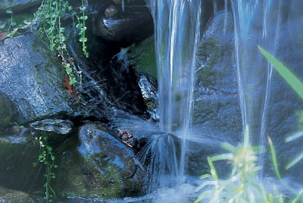 medium yard waterfalls
